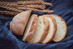 Φρέσκα τεμαχισμένα αυτιά ψωμιού και σίτου στοκ εικόνες