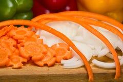 Φρέσκα τεμαχισμένα λαχανικά Στοκ Φωτογραφία