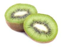 Φρέσκα φρούτα ακτινίδιων κομματιού που απομονώνονται Στοκ Εικόνες
