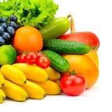 Φρέσκα φρούτα και λαχανικά συλλογής Στοκ Εικόνες