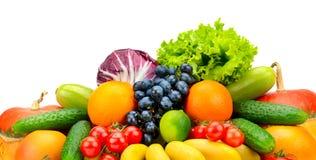 Φρέσκα φρούτα και λαχανικά συλλογής Στοκ Εικόνα