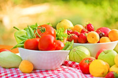 Φρέσκα φρούτα και λαχανικά Στοκ Φωτογραφίες