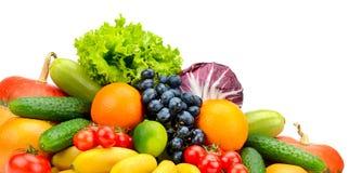 Φρέσκα φρούτα και λαχανικά συλλογής Στοκ φωτογραφίες με δικαίωμα ελεύθερης χρήσης