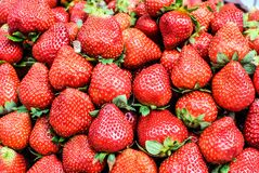 Φρέσκα ώριμα strawbarries Στοκ εικόνα με δικαίωμα ελεύθερης χρήσης
