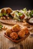 Φρέσκα chickpeas falafel Στοκ Εικόνες