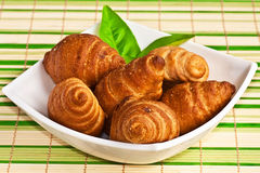 Φρέσκα croissants Στοκ εικόνα με δικαίωμα ελεύθερης χρήσης