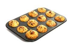 Φρέσκα muffins πιτσών Στοκ εικόνες με δικαίωμα ελεύθερης χρήσης