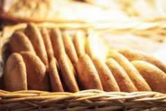 Φρέσκα oatmeal μπισκότα στο κατάστημα για την πώληση στοκ φωτογραφία