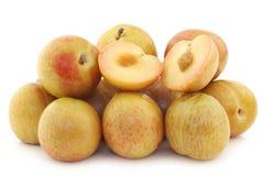Φρέσκα pluots (armeniaca salicina × Prunus) Στοκ εικόνα με δικαίωμα ελεύθερης χρήσης