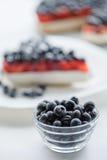 Φρέσκες βακκίνια και πίτα βακκινίων Στοκ φωτογραφία με δικαίωμα ελεύθερης χρήσης