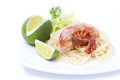 φρέσκες γαρίδες θαλασ&sigma Στοκ φωτογραφία με δικαίωμα ελεύθερης χρήσης