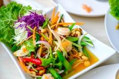 Φρέσκες γαρίδες κατσαρού λάχανου Στοκ Εικόνες