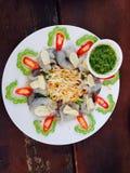Φρέσκες γαρίδες στη σάλτσα ψαριών Στοκ εικόνες με δικαίωμα ελεύθερης χρήσης