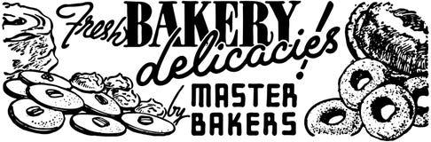 Φρέσκες λιχουδιές αρτοποιείων διανυσματική απεικόνιση