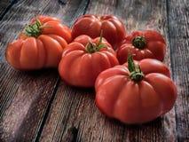Φρέσκες κόκκινες ντομάτες Marmande RAF Στοκ Φωτογραφία