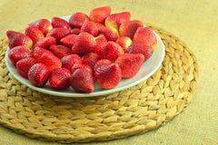 φρέσκες κόκκινες φράουλ Στοκ Εικόνα