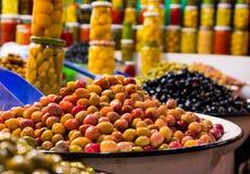 Φρέσκες μαροκινές ελιές Στοκ εικόνα με δικαίωμα ελεύθερης χρήσης