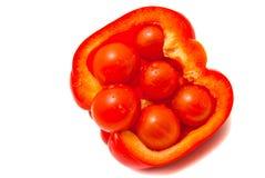 φρέσκες ντομάτες πιπεριών κερασιών Στοκ Εικόνα