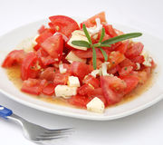 φρέσκες ντομάτες σαλάτα&sigma Στοκ φωτογραφίες με δικαίωμα ελεύθερης χρήσης