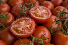 φρέσκες οργανικές ντομάτες Στοκ Φωτογραφία