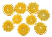 Φρέσκες πορτοκαλιές φέτες φρούτων Στοκ Φωτογραφίες