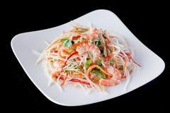 Φρέσκες συνταγές σαλάτας γαρίδων Στοκ φωτογραφίες με δικαίωμα ελεύθερης χρήσης