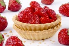 φρέσκες φράουλες δύο ζύμ&et στοκ φωτογραφίες με δικαίωμα ελεύθερης χρήσης