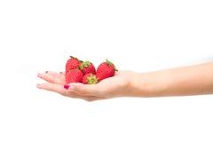 φρέσκες φράουλες κινημ&alpha Στοκ Φωτογραφίες
