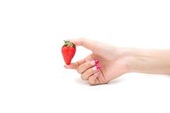φρέσκες φράουλες κινημ&alpha Στοκ εικόνα με δικαίωμα ελεύθερης χρήσης