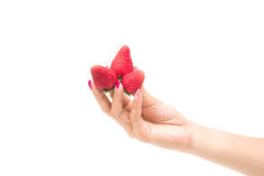 φρέσκες φράουλες κινημ&alpha Στοκ φωτογραφίες με δικαίωμα ελεύθερης χρήσης