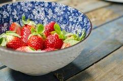 φρέσκες φράουλες κύπελ&la Στοκ Φωτογραφία