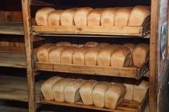 φρέσκες φραντζόλες ψωμι&omicr Στοκ Εικόνες