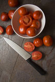Φρέσκες juicy ντομάτες, Στοκ εικόνα με δικαίωμα ελεύθερης χρήσης