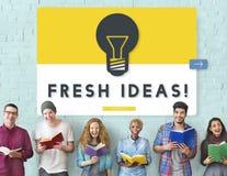 Φρέσκια έννοια καινοτομίας δημιουργικότητας ιδεών Στοκ Φωτογραφία