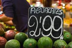 Φρέσκια αγορά τροφίμων, Βαρκελώνη Στοκ Φωτογραφία