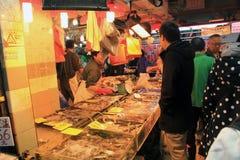 Φρέσκια αγορά τροφίμων στο Χογκ Κογκ Στοκ εικόνα με δικαίωμα ελεύθερης χρήσης