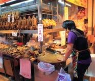 Φρέσκια αγορά τροφίμων Χονγκ Κονγκ Στοκ Φωτογραφίες