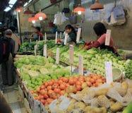 Φρέσκια αγορά τροφίμων Χονγκ Κονγκ Στοκ Εικόνες