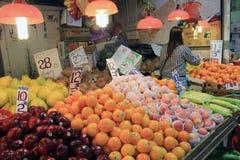 Φρέσκια αγορά τροφίμων Χονγκ Κονγκ Στοκ Εικόνα