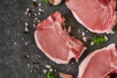 Φρέσκια, ακατέργαστη μπριζόλα βόειου κρέατος Στοκ φωτογραφία με δικαίωμα ελεύθερης χρήσης