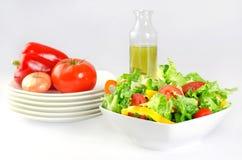 Φρέσκια ανασκόπηση σαλάτας στοκ φωτογραφία