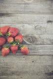 Φρέσκια βιο φράουλα Στοκ Εικόνα