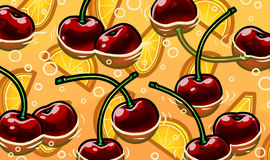 Φρέσκια λεμονάδα θερινών κερασιών Στοκ Εικόνα