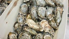 Φρέσκια κατάταξη θαλασσινών στην αγορά απόθεμα βίντεο