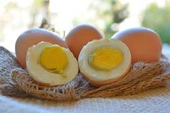 Φρέσκια κινηματογράφηση σε πρώτο πλάνο αυγών στο άσπρο υπόβαθρο στοκ εικόνες με δικαίωμα ελεύθερης χρήσης