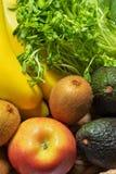 Φρέσκια κινηματογράφηση σε πρώτο πλάνο φρούτων και λαχανικών Στοκ Φωτογραφία