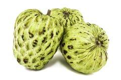 Φρέσκια κρέμα Apple ή ώριμα φρούτα Annona της Apple ζάχαρης, sweetsop απομονωμένος στο άσπρο υπόβαθρο Στοκ φωτογραφίες με δικαίωμα ελεύθερης χρήσης