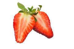 Φράουλα που απομονώνεται Στοκ Εικόνες