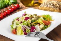 Φρέσκια μικτή σαλάτα - frischer, bunter salat Στοκ Φωτογραφίες