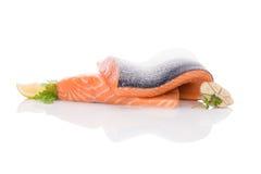 φρέσκια μπριζόλα σολομών Στοκ Φωτογραφίες
